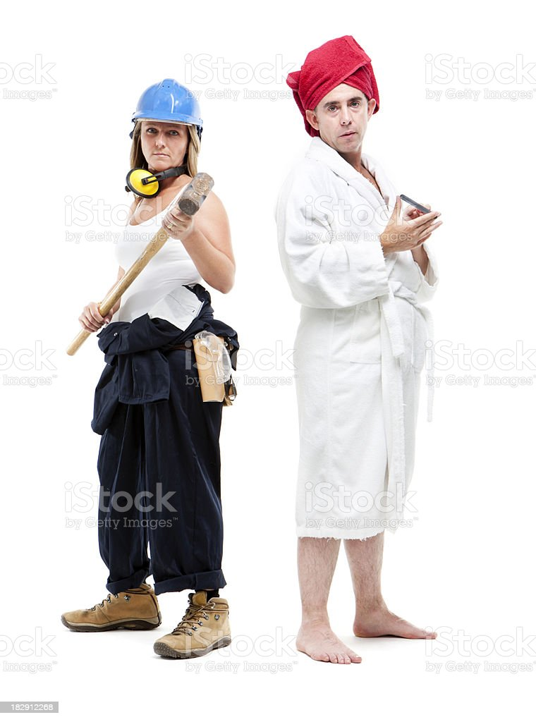 swapping stereotypes royalty-free stock photo