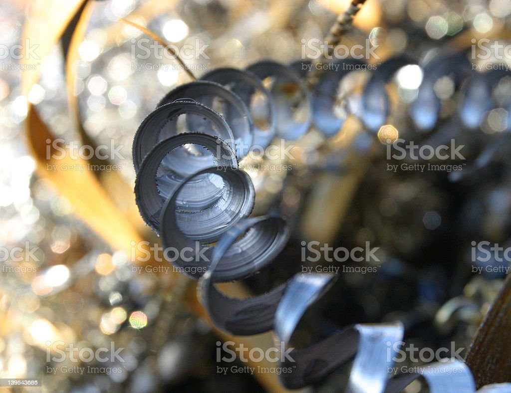 Swarf 2 (highly selective focus) stock photo