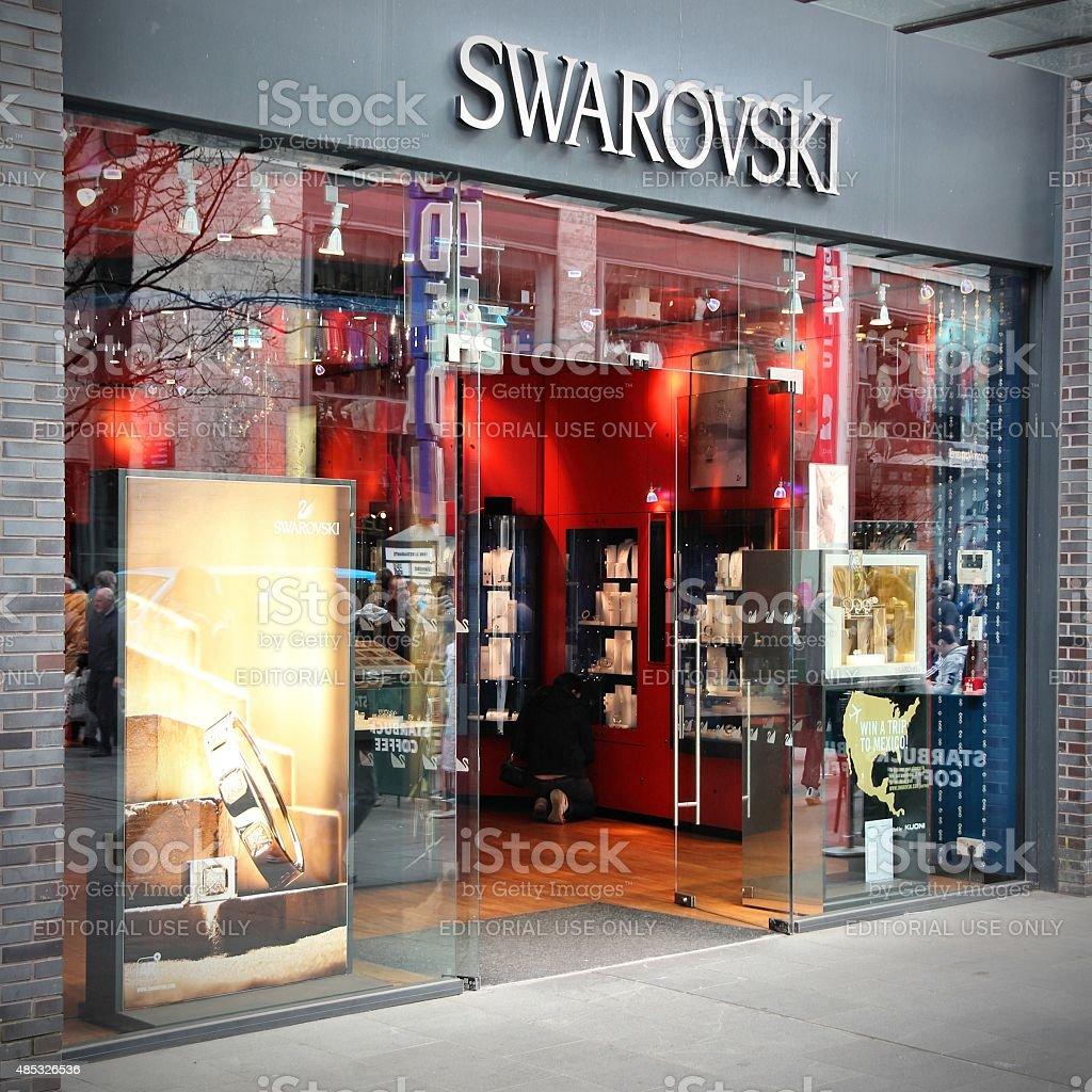 Swarovski jewelry store stock photo