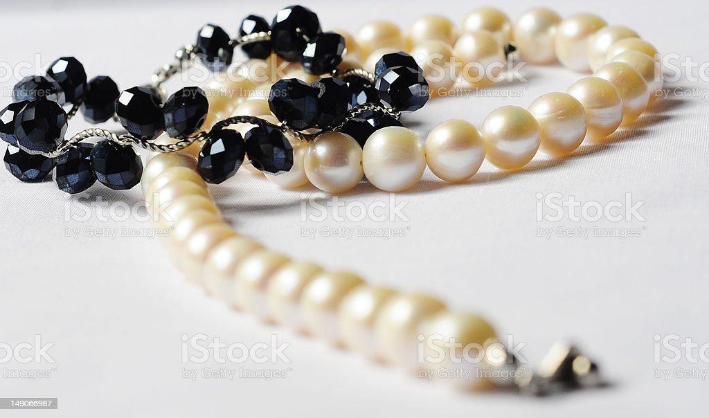 Swarovski with Pearl Necklace stock photo