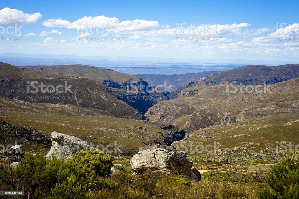 Swartberg mountain pass Karoo South Africa stock photo