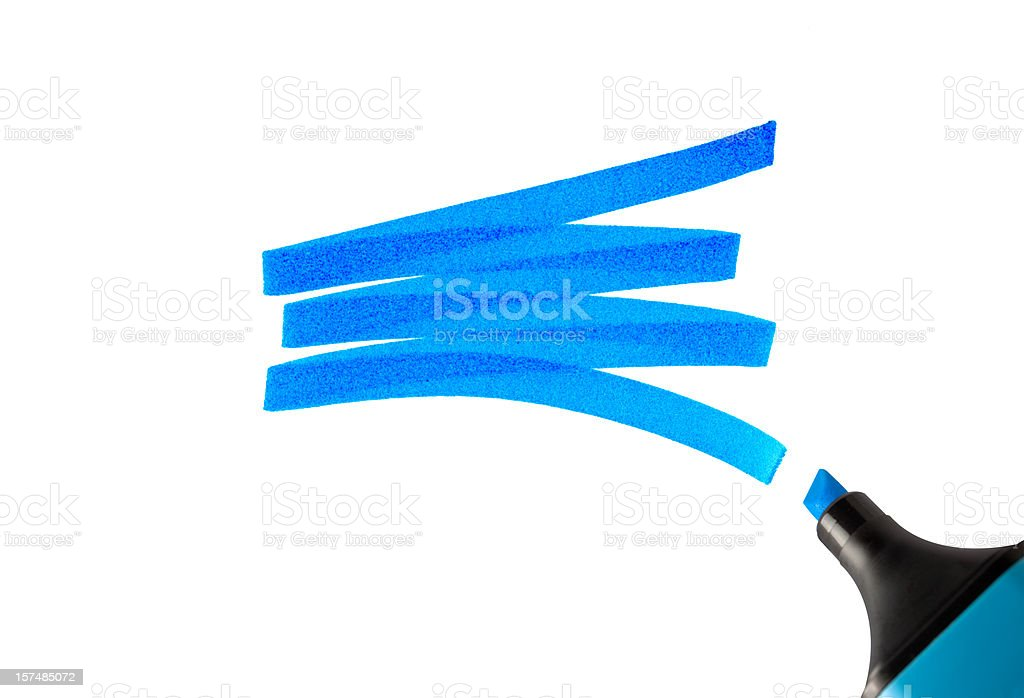 Swash of a highlighter pen. royalty-free stock photo