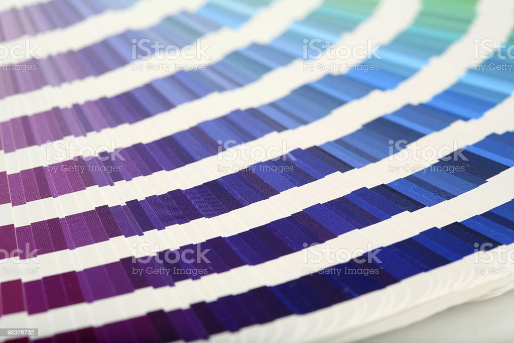 Swatch Book  PURPLE->GREEN royalty-free stock photo