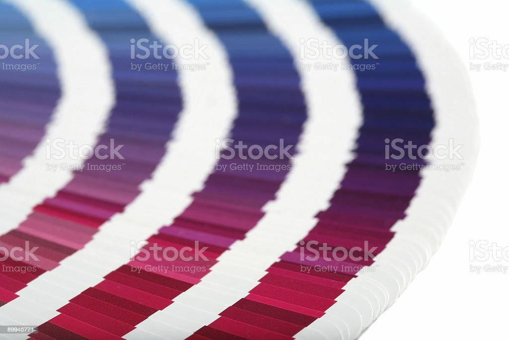 Swatch Book RED->BLUE stock photo