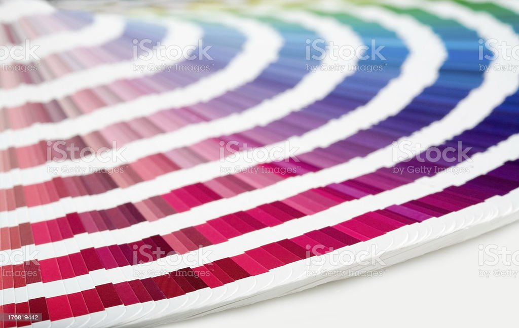 Swatch Book RED->GREEN royalty-free stock photo