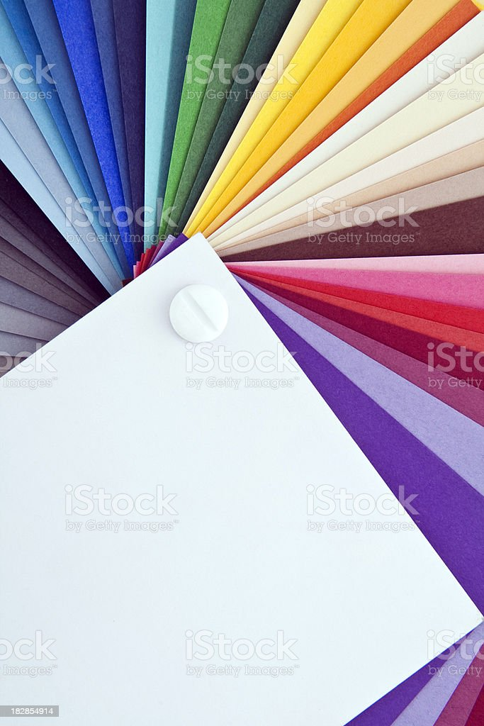 Swatch card stock photo