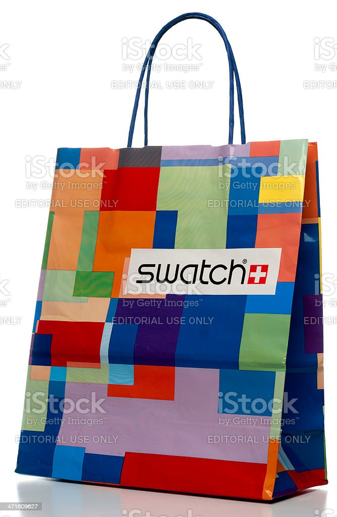 Swatch gift paper bag royalty-free stock photo