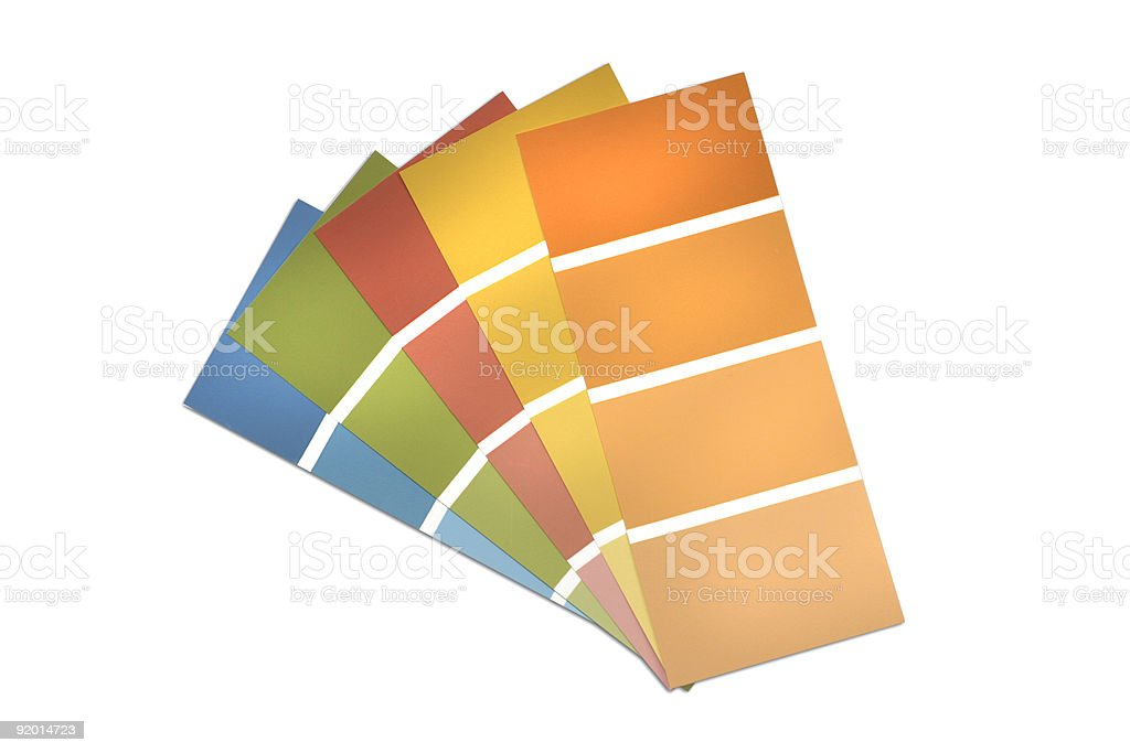Swatches of color royalty-free stock photo