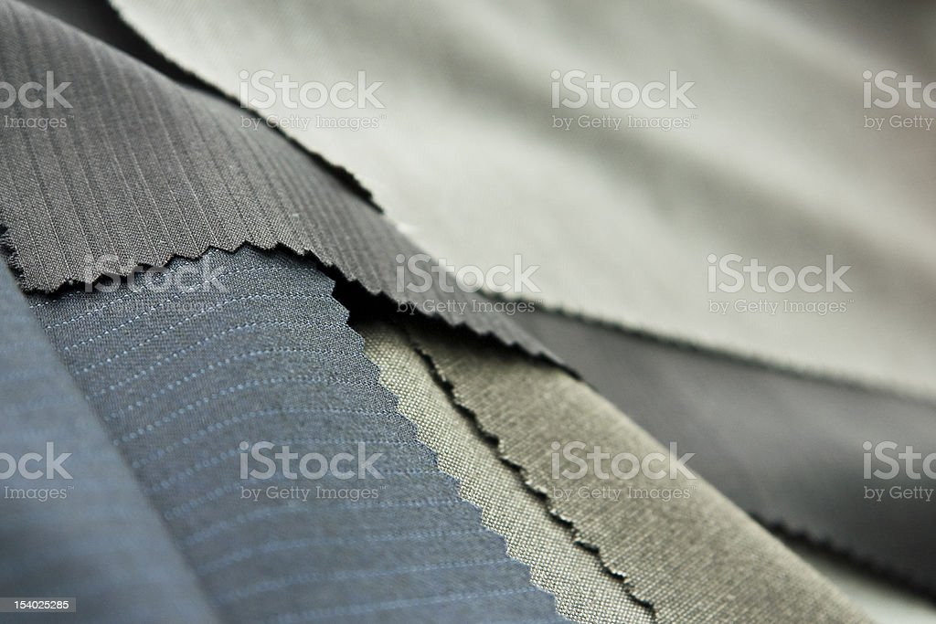 Swatches of polyester textile for business suits  royalty-free stock photo