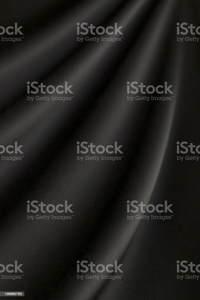 Swath of smooth, rich black silk royalty-free stock photo