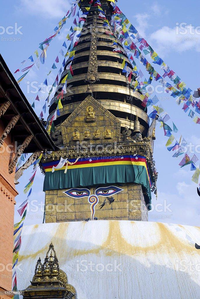 Swayambhu stock photo