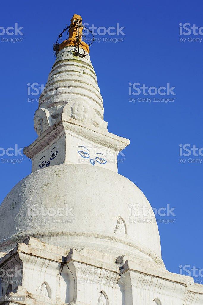 Swayambhunath Monastery in Nepal royalty-free stock photo
