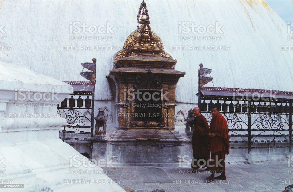 Swayambhunath Pagoda, Kathmandu, Nepal royalty-free stock photo