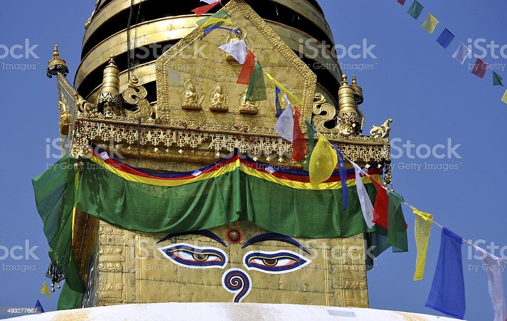 Swayambhunath stock photo