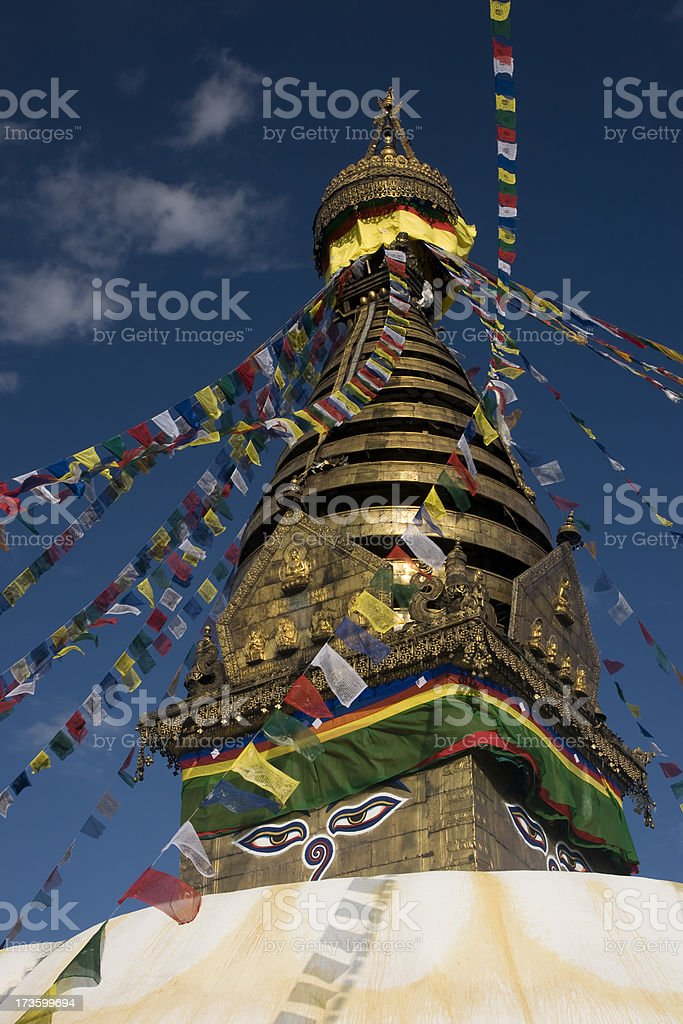 Swayambhunath Stupa ,Kathmandu, Nepal royalty-free stock photo