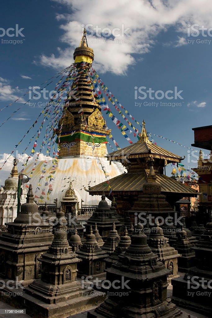 Swayambhunath Stupa ,Kathmandu, Nepal royalty-free stock photo