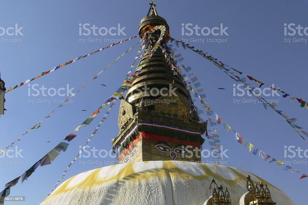Swayambhunath (Swoyambhunath) Stupa, Kathmandu, Nepal royalty-free stock photo