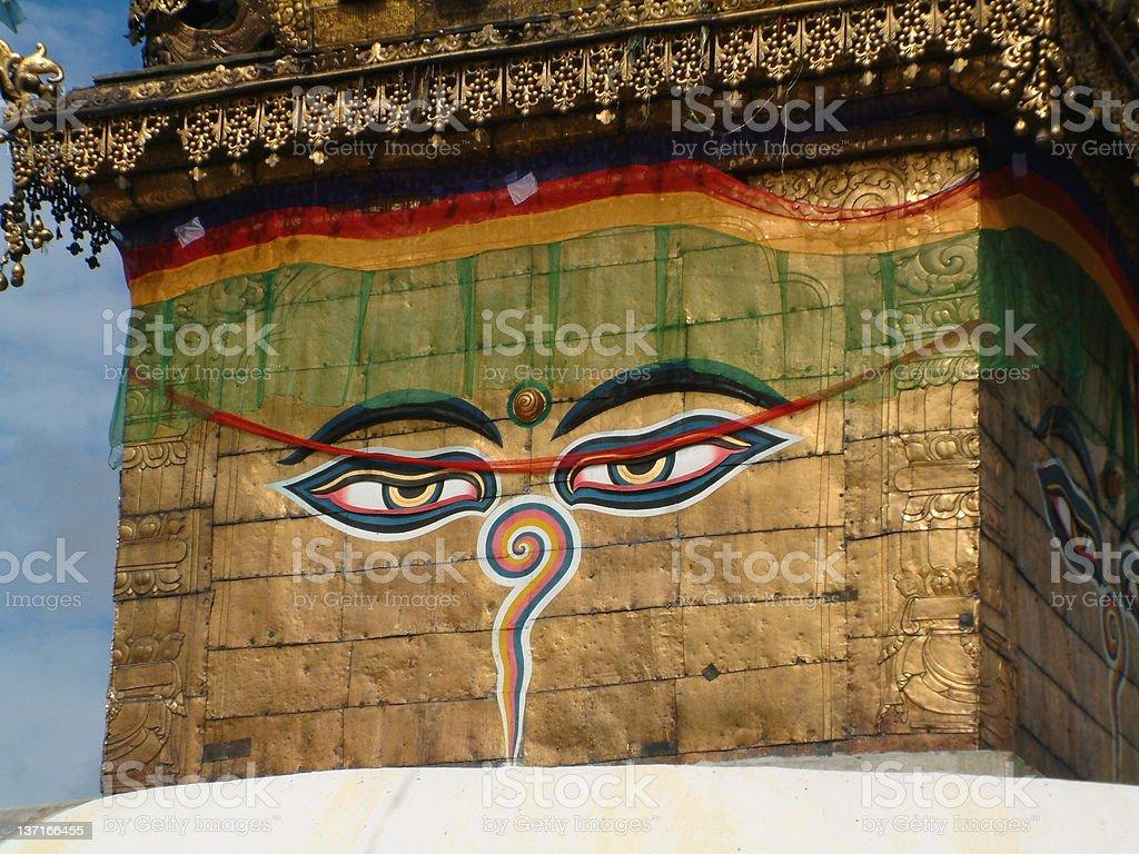 Swayambhunath Stupa, Kathmandu royalty-free stock photo