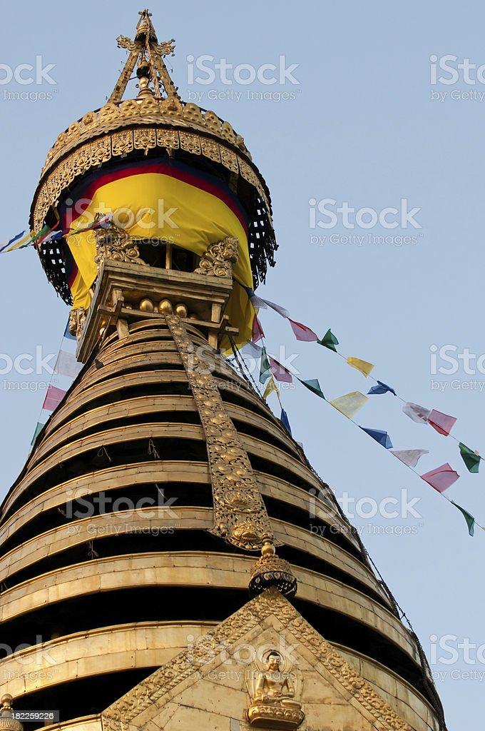 Swayambhunath stupa royalty-free stock photo