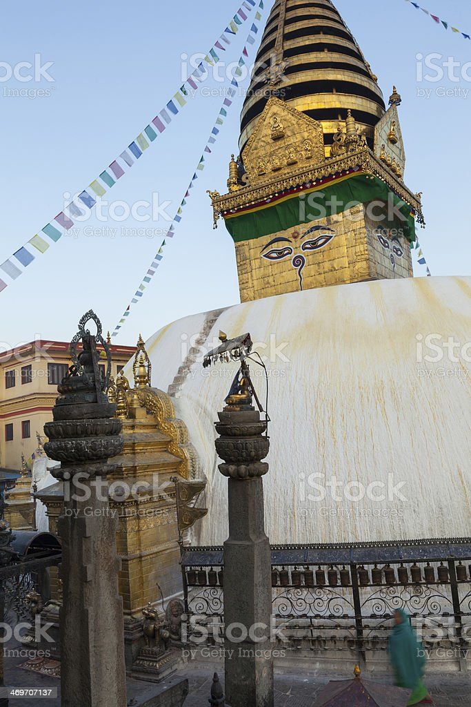 Swayambhunath (monkey temple) stupa. royalty-free stock photo