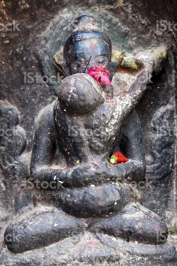 Swayambhunath Temple Nepal stock photo