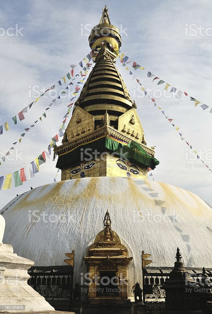 Swayambhunath temple royalty-free stock photo