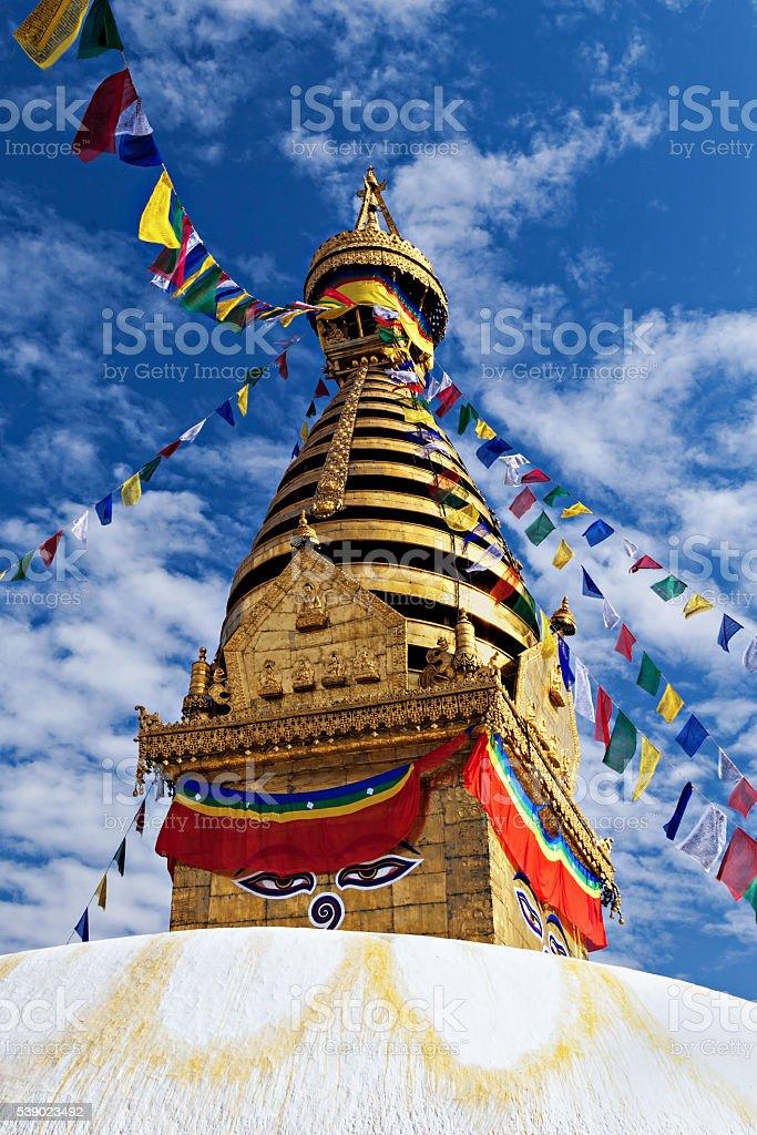Swayambhunath Temple stock photo