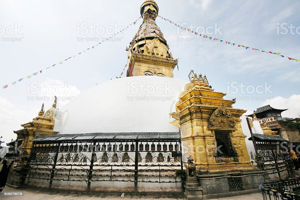 Swayambhunath Temple stock photo