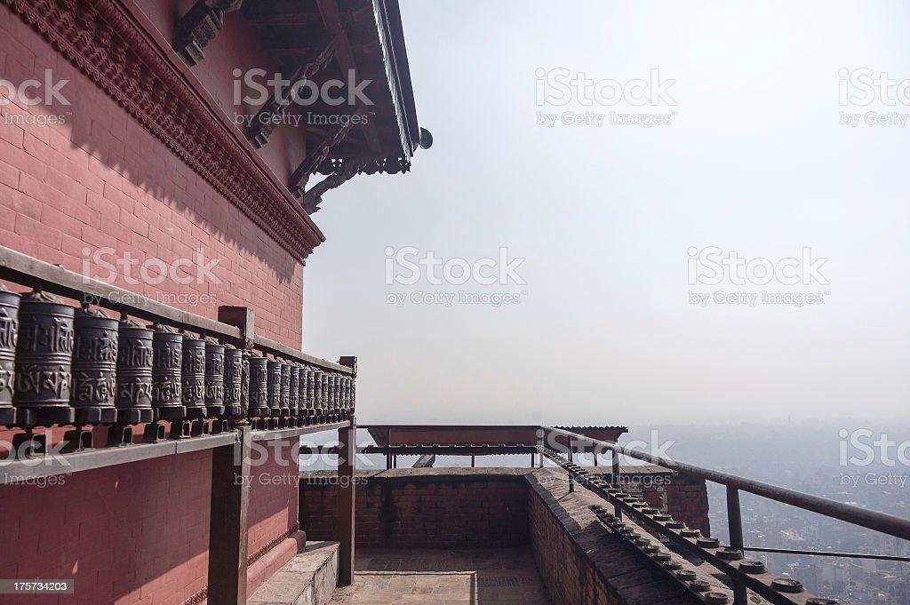 Swayambhunath temple view royalty-free stock photo