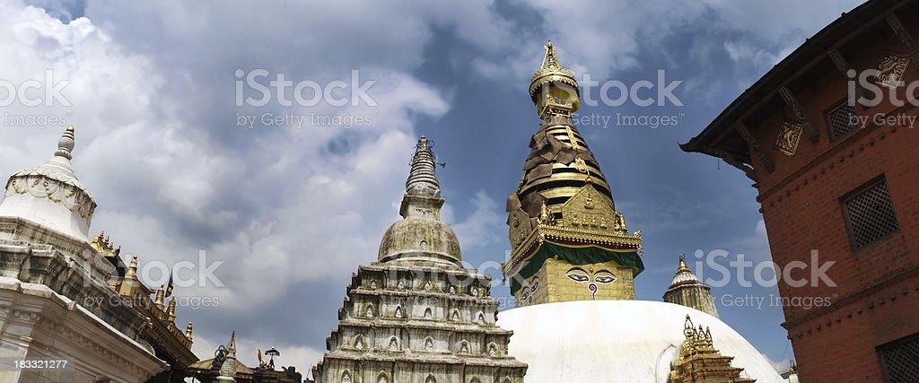 Swayambhunath temples in Nepal royalty-free stock photo