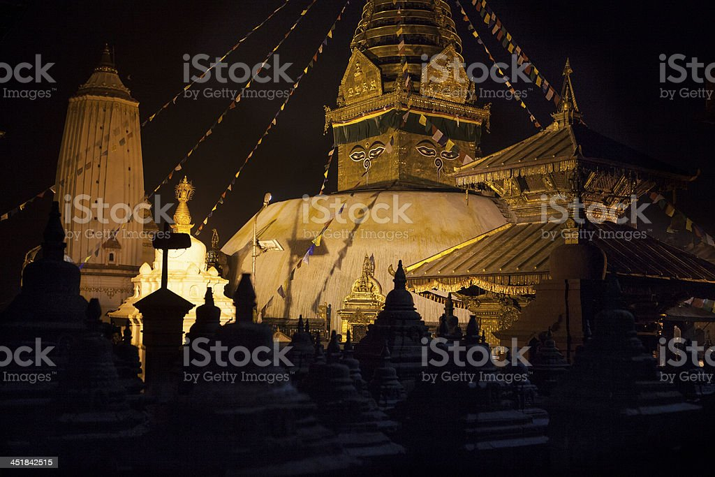 Swayambhunath the Monkey Temple Nepal royalty-free stock photo