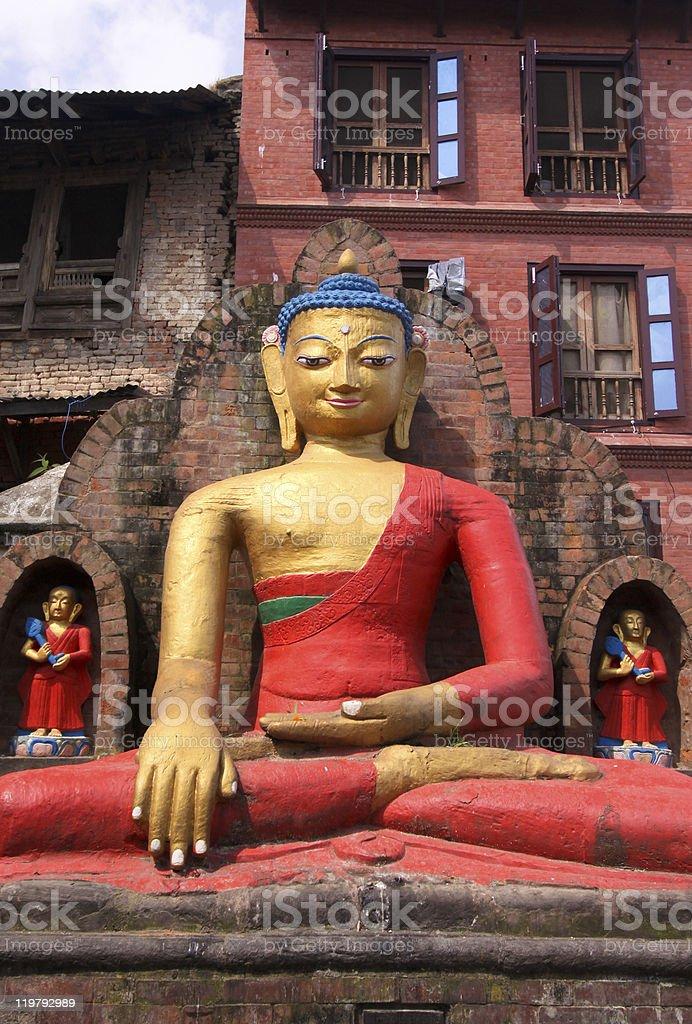 Swayambunath Stupa in Kathmandu, Nepal royalty-free stock photo