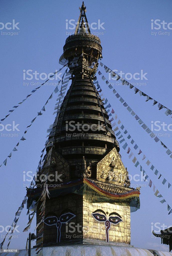 Swayambunath Temple in Kathmandu, Nepal royalty-free stock photo