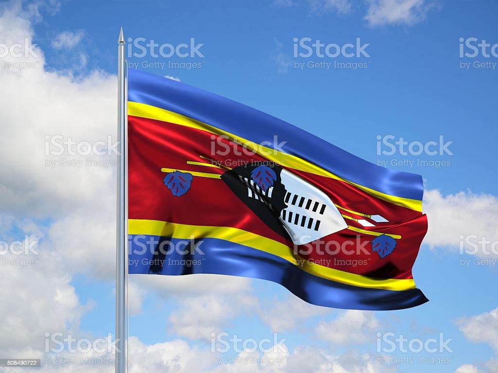 Swaziland 3d flag stock photo