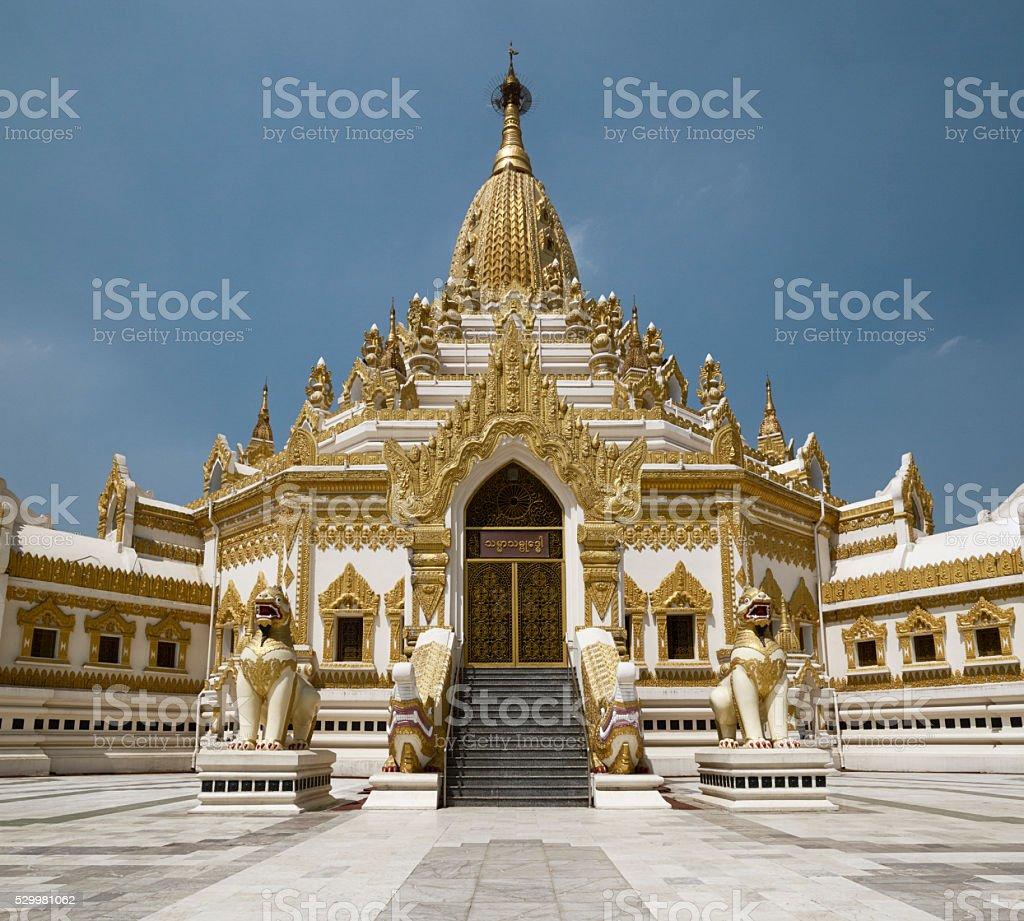 Swe Taw Myat, Buddha Tooth Relic Pagoda,Yangon, Myanmar stock photo