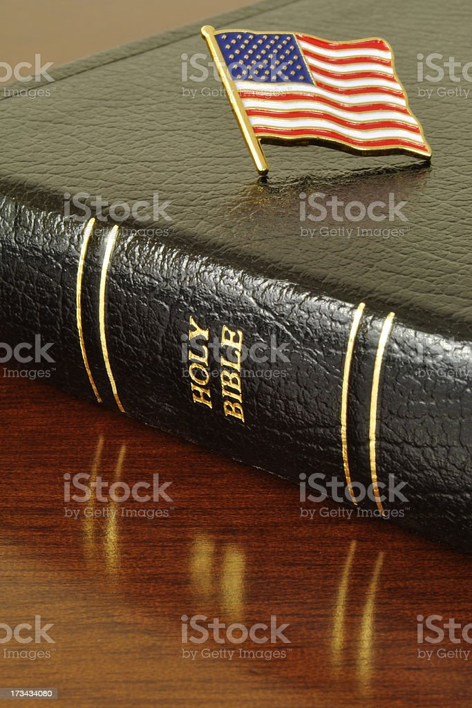 Swear Allegiance To The Flag royalty-free stock photo