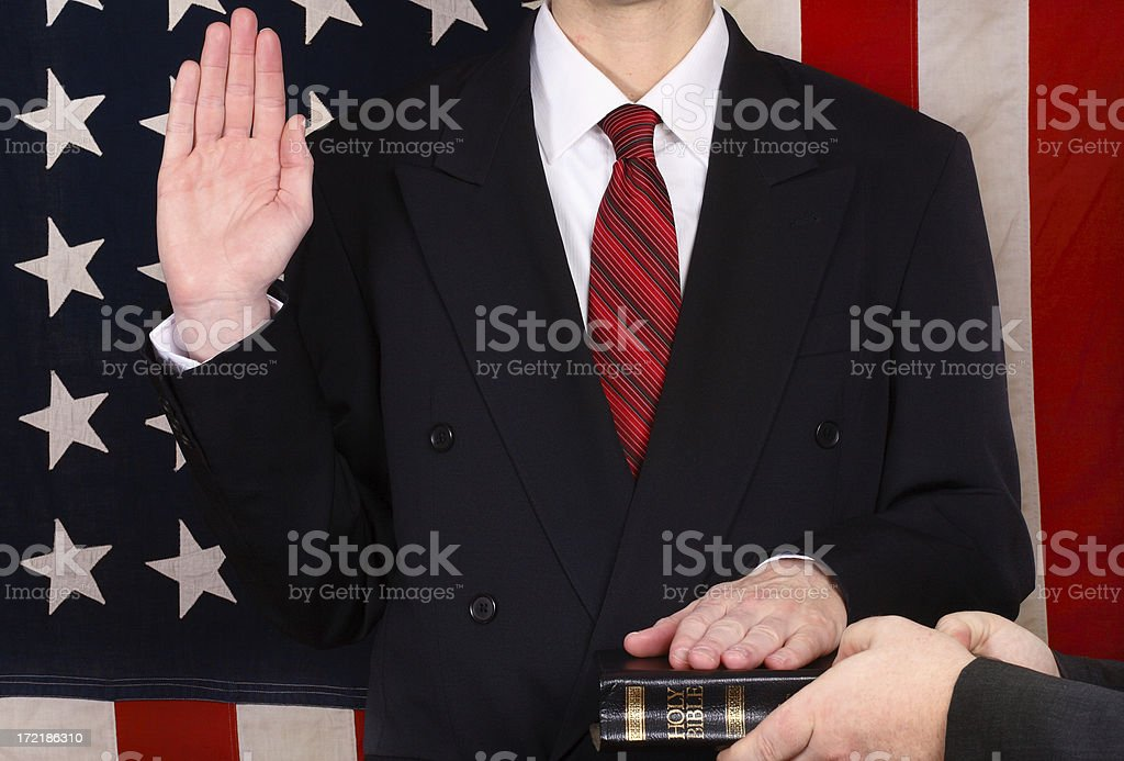Swearing An Oath stock photo