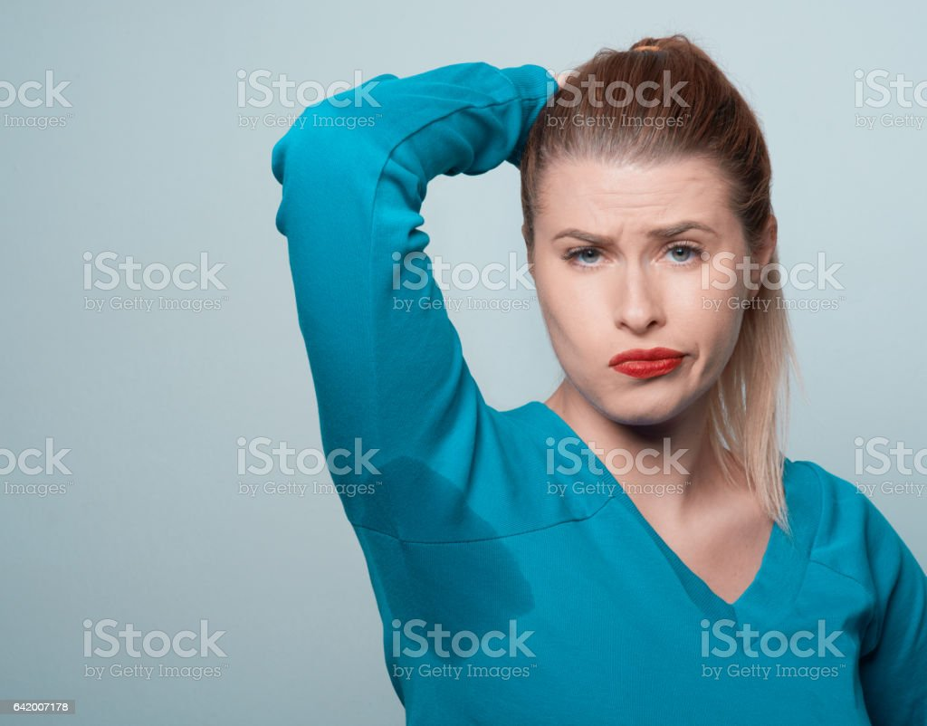 sweat issues stock photo