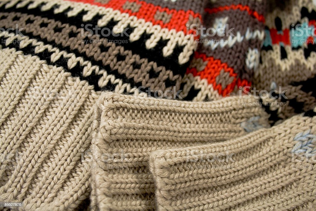 sweater close-up royalty-free stock photo