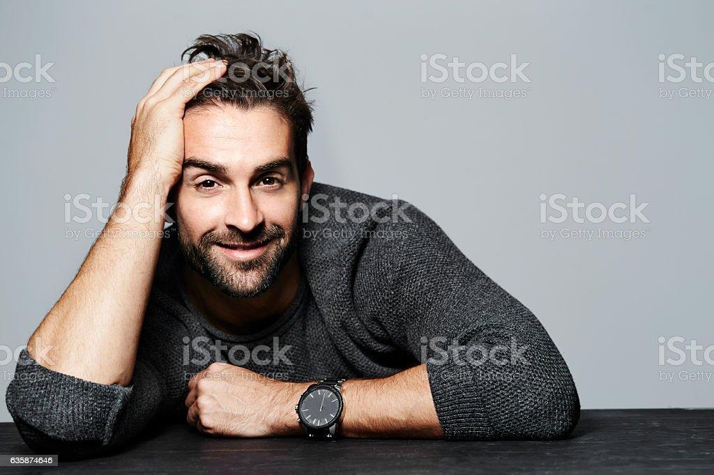 Sweater guy stock photo