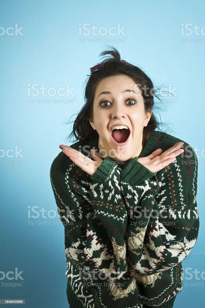 Sweater happy royalty-free stock photo