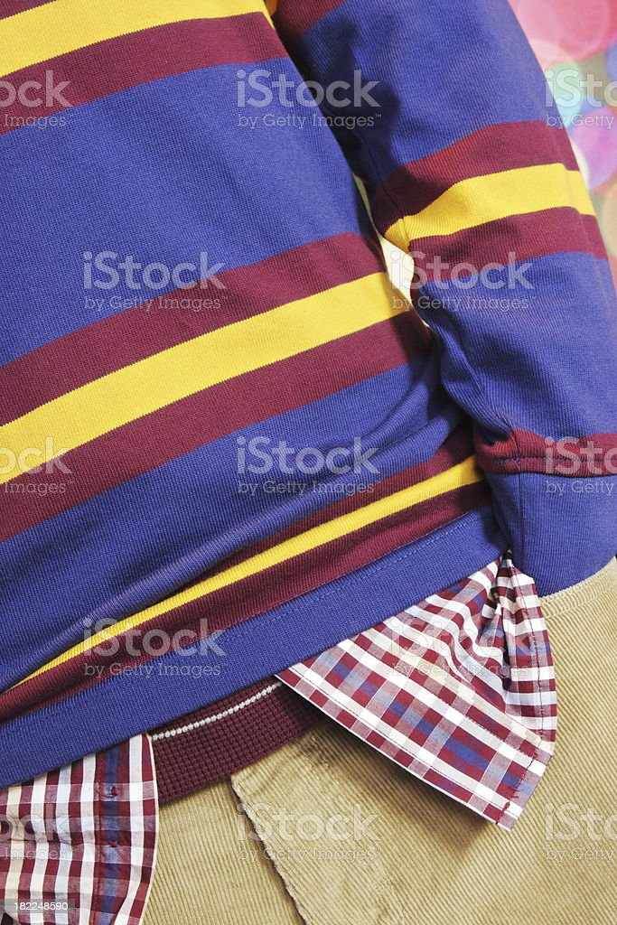 Sweater Shirt Corduroy Clothing Fashion royalty-free stock photo
