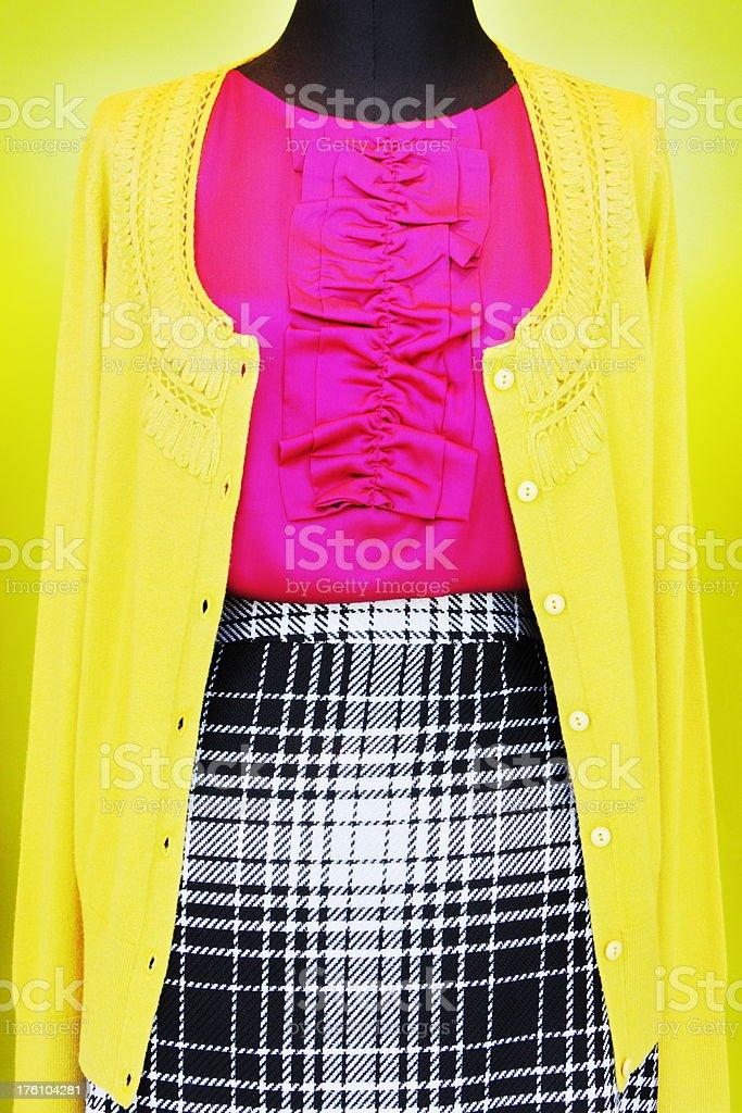 Sweater Skirt Fashion Female Clothing royalty-free stock photo