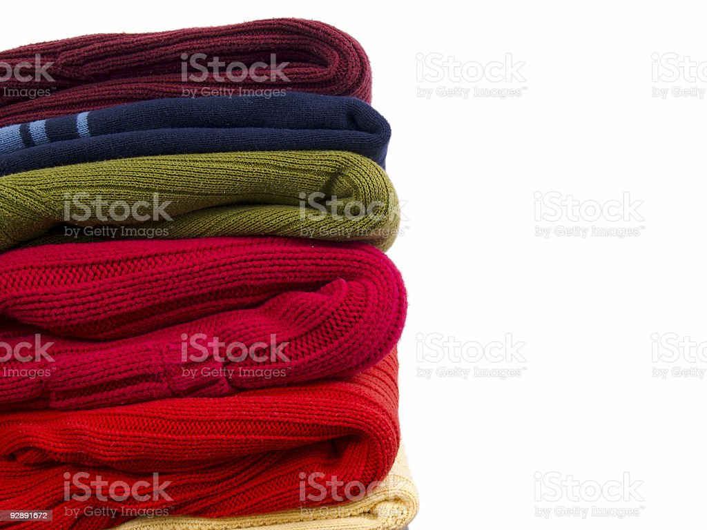 Sweater Stack royalty-free stock photo
