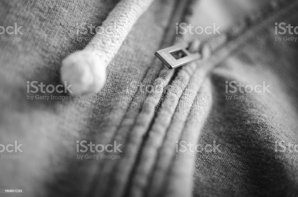 Sweater Zip BW royalty-free stock photo