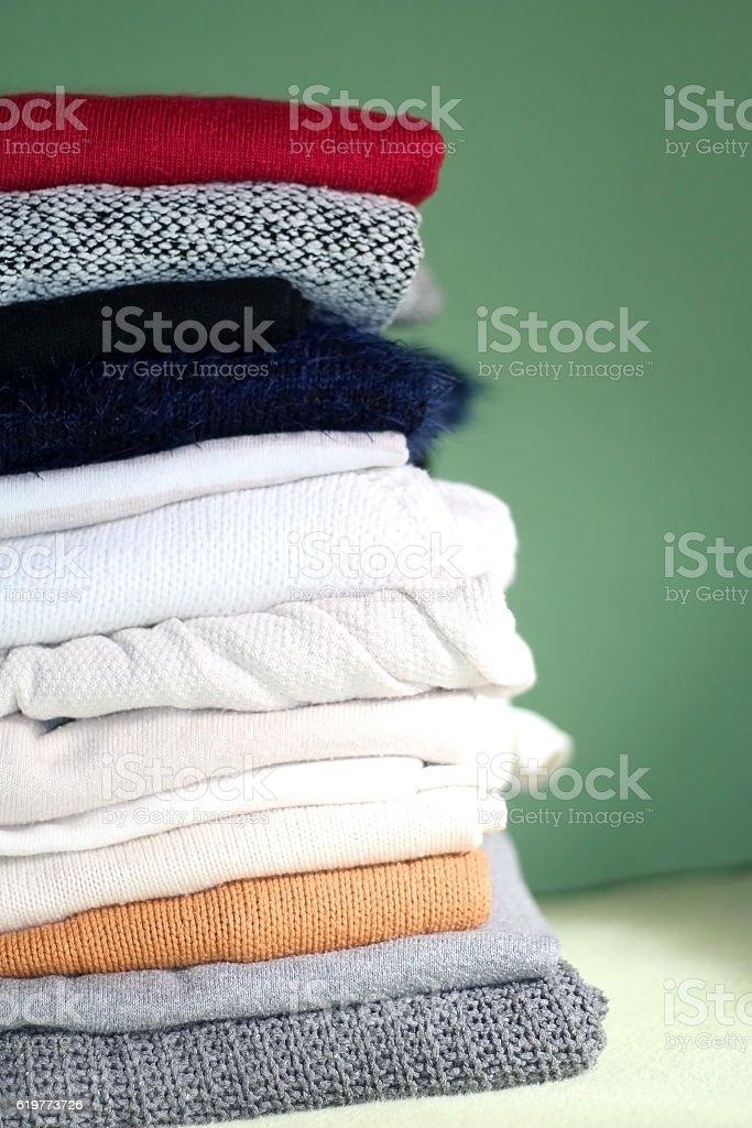 Sweaters stock photo