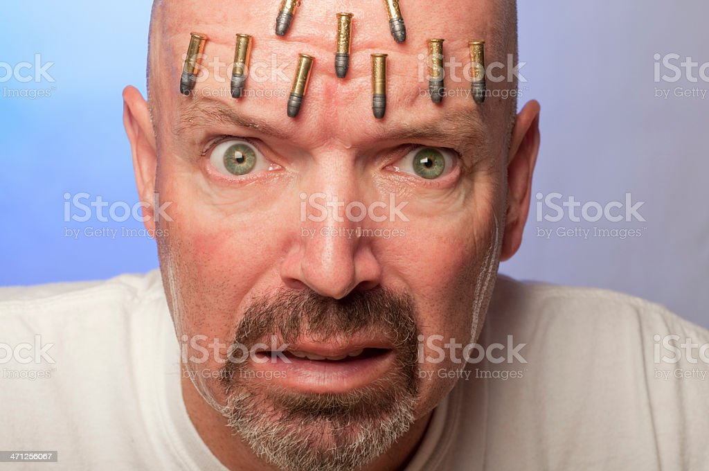 Sweating Bullets stock photo