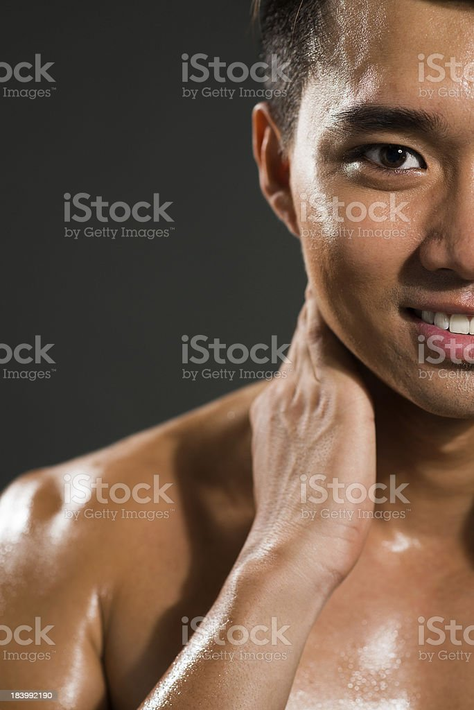 Sweating man royalty-free stock photo