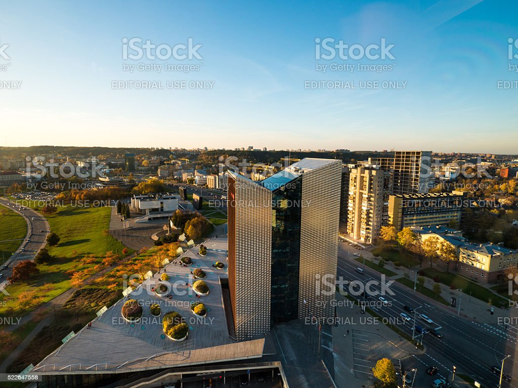 Swedbank building in Vilnius, Lithuania stock photo