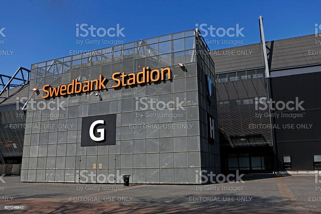 Swedbank Stadion at Malmo stock photo